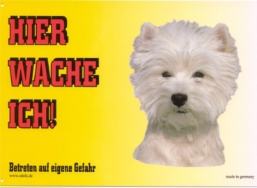 Warnschild West Highland White Terrier