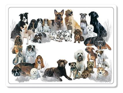 dog paradise glasschneideplatte viele hunderassen hunde dogs galore. Black Bedroom Furniture Sets. Home Design Ideas