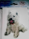 3-D Aufkleber West Highland White Terrier Kopf