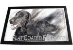 Designer Fussmatte Flat Coated Retriever 1