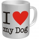 Kaffetasse Tasse I love my Dog