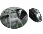 Mousepad Fox Terrier 3 Glatthaar