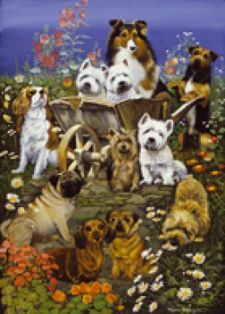Puzzle Dogs Garden Party